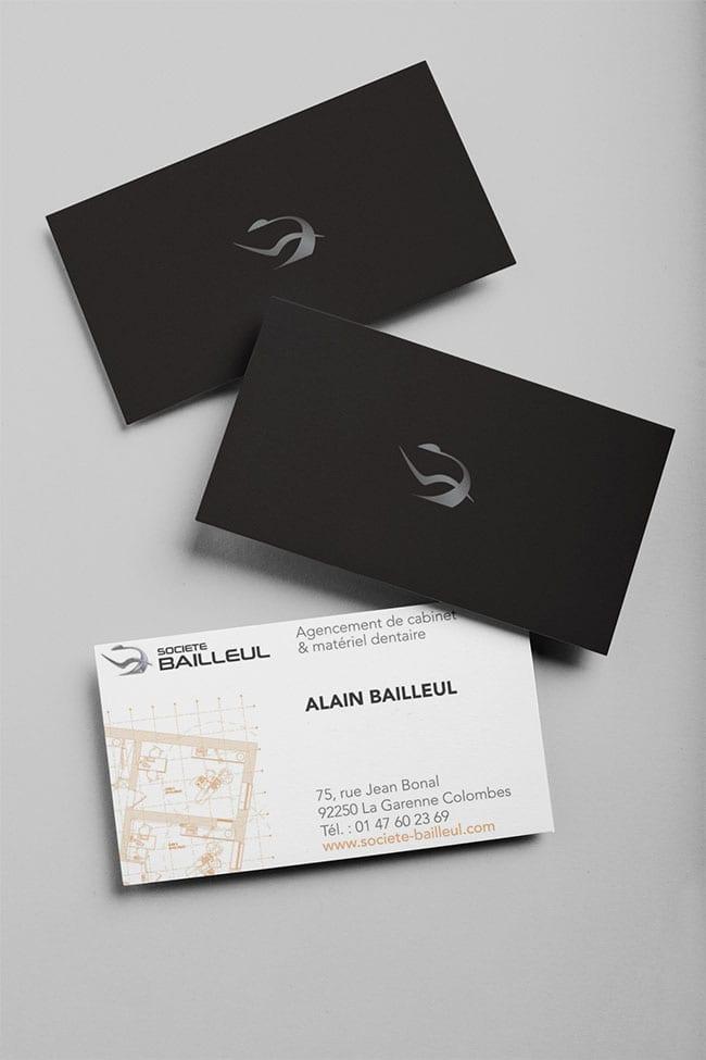 Cartes de visite Société Bailleul