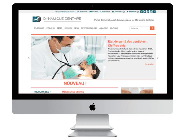 Site internet de Dynamique Dentaire – Site d'information pour les chirurgiens-dentistes