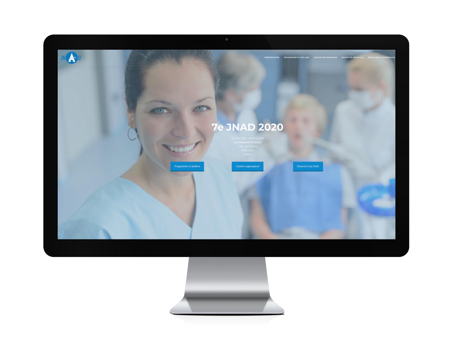 Site internet JNAD (Journée Nationale des Assitant.e.s Dentaires)