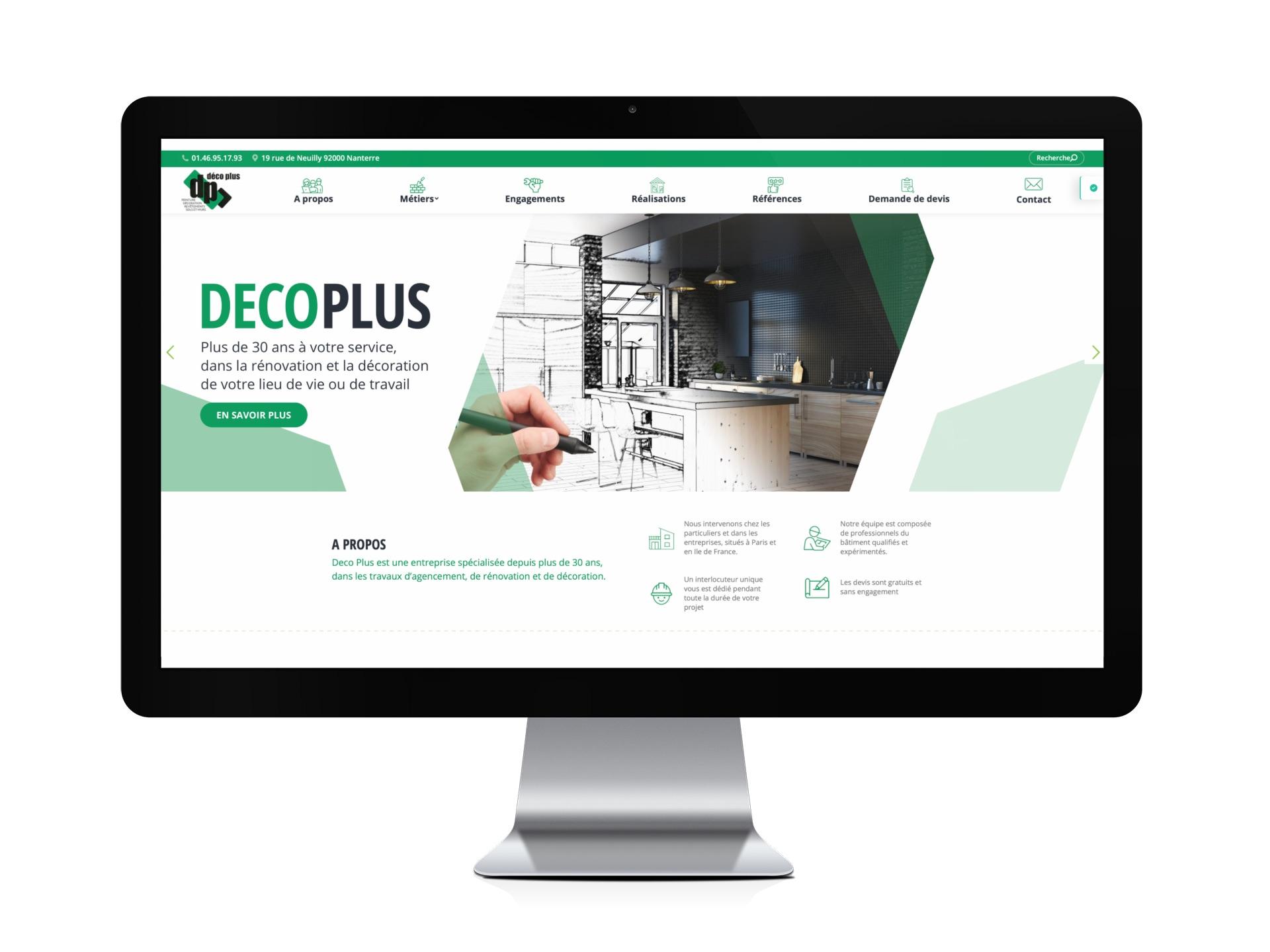 Site internet de la société Déco Plus